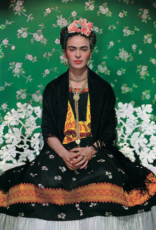Frida Kahlo on the bench 1939, photograph by Nickolas Muray©Nickolas Muray Photo Archives