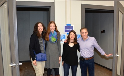 Joanne McAndrews, Katie Eisenman, Joelyn Levy, Ed Levy (class of 1983)—Music Practice Rooms