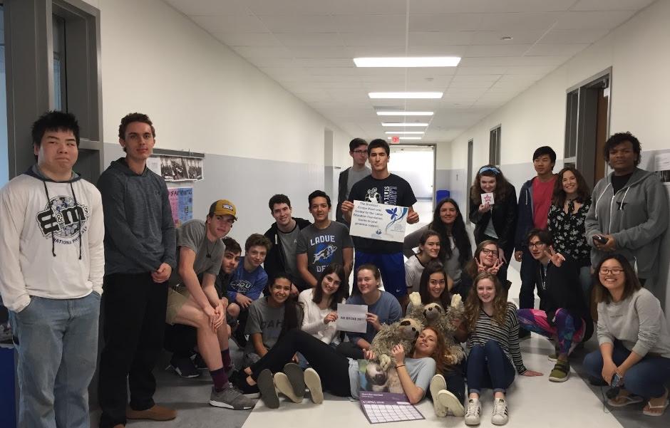 The winning team of the Breakout EDU challenge in AP Statistics at Ladue Horton Watkins High School.