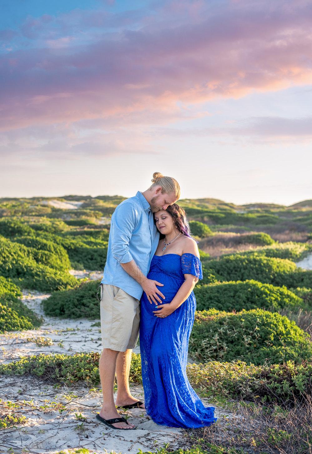 Corpus Christi Beach maternity photo