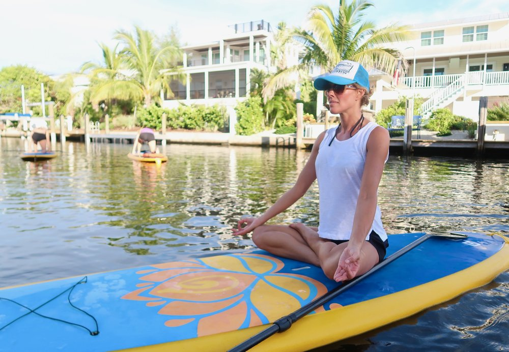 sup yoga teacher training on anna maria island