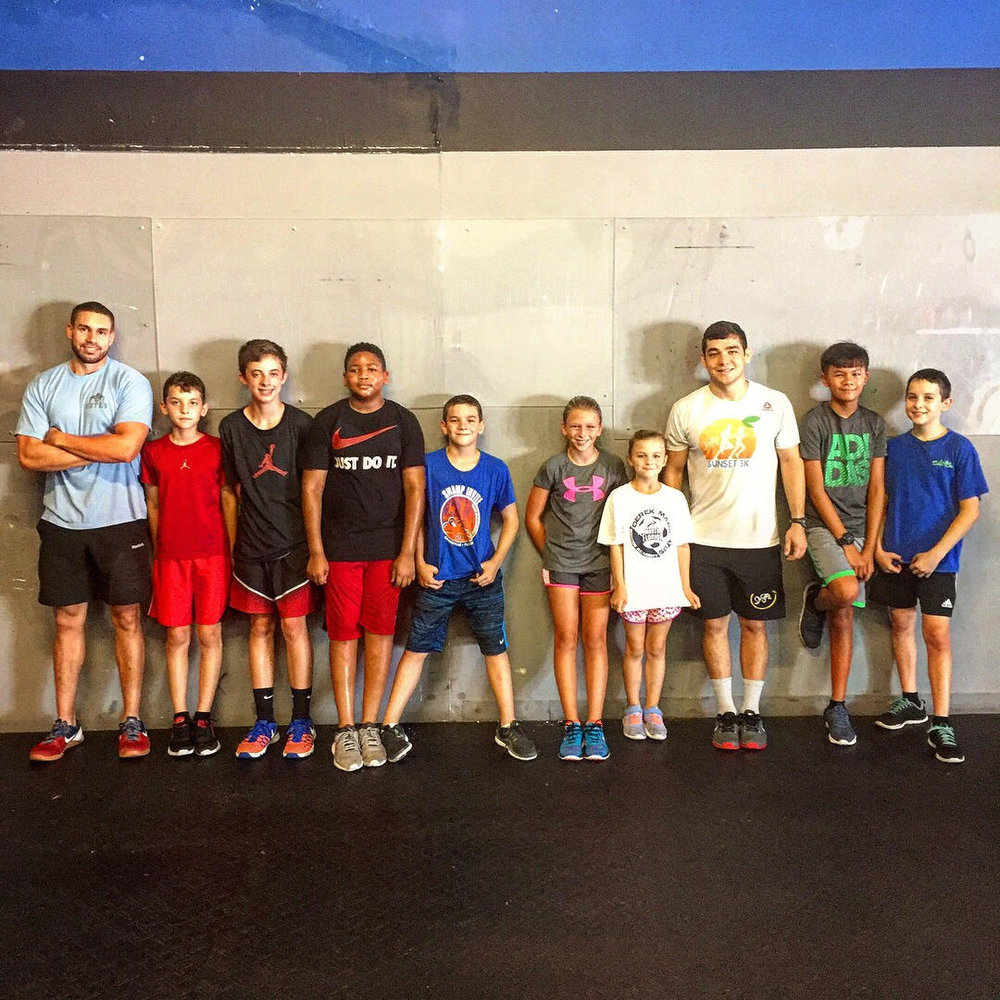 "Last summer Camp Day 2017!   TestimoniaL from camp: ""The camp was awesome. I never knew sweating and working out would be this fun. Spending time with the coaches there really made my time there amazing. I didn't expect to use the ropes, barbells, and machines during the camp, but John and Ruben made them fun... Even my swimming coach noticed I got better! I'm really glad John and Ruben taught me the skills I need that I can definitely use in swimming and during PE...it was an awesome experience, I look forward to doing it soon!"" -Matt"