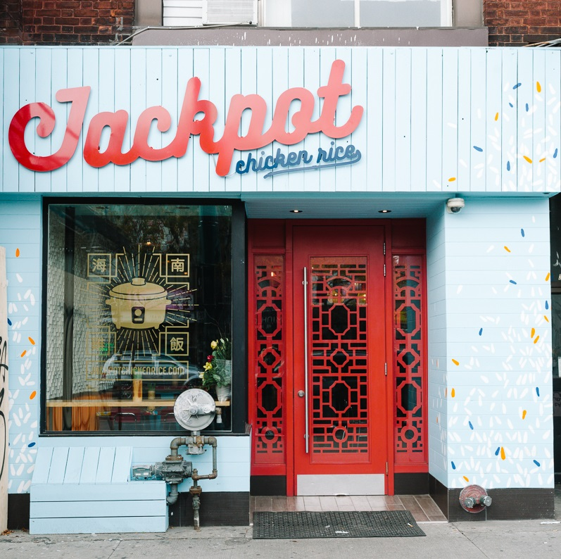 JACKPOT CHICKEN RICE 318 Spadina Avenue Toronto, On M5T 2E7 416.792.8628 OPEN DAILY Friday - Saturday 11am to 12am Sunday - Monday 11am to 10pm Tues - Thursday 11am to 11pm