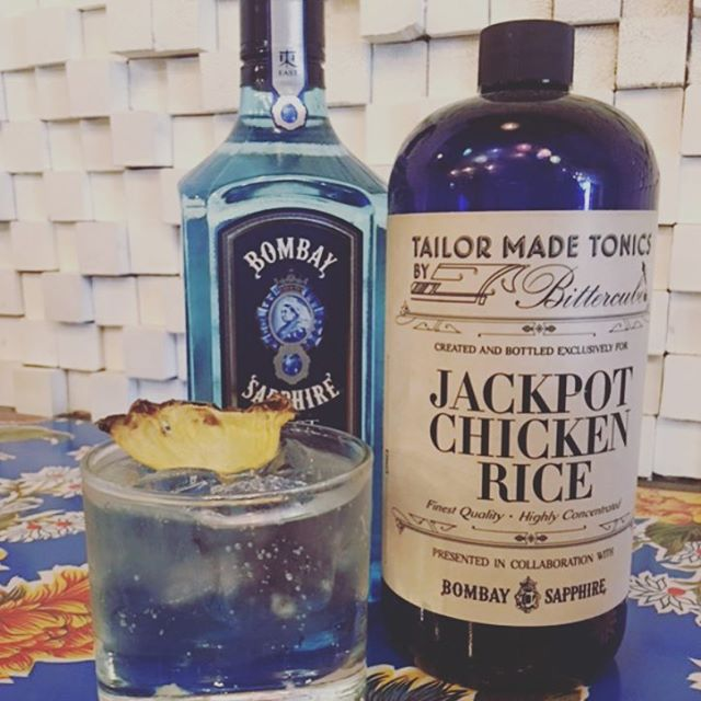 🎰JACKPOT G&T🎰 What makes it special?  We use Bombay Sapphire East and a tonic that is custom made only for us with notes of lemongrass, calamansi and ginger. 😍😍😍 @bombaysapphire  #chinatown #toronto #notyouraverageGandT