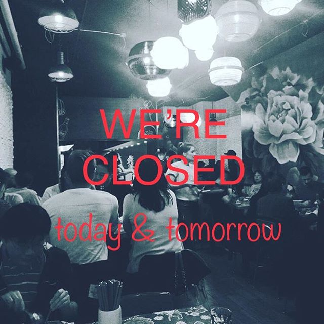 We will be closed Monday and Tuesday this week. Have a great long weekend! 🕶☀️🍻🎆