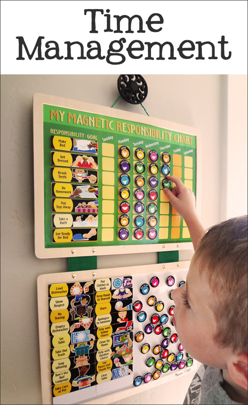 Magnetic responsibilities chart via  Melissa & Doug.