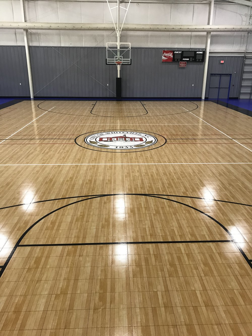 Newly renovated basketball court