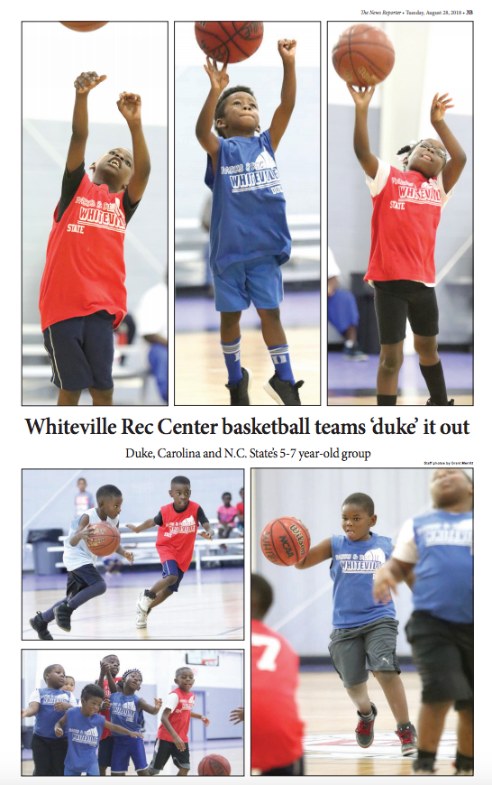 Whiteville Rec Center basketball Duke, Carolina and N.C. State's 5-7 year-old teams.