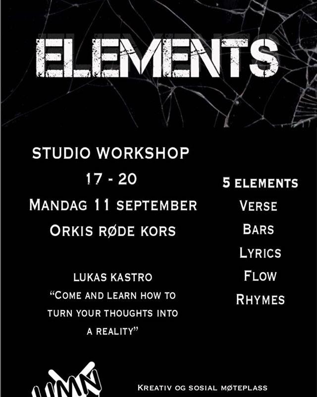 På mandag er det workshop med Lou Kastro @ricoproject! Kl.17.00-20.00 🎤🎤🎹🎹#workshop#music#studio#youth#avungeforung#umn