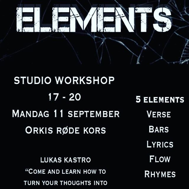 Workshop i dag med! Kl.17.00-20.00 🎤🎼✏️✏️#music#elements#youthempowerment#peertopeer