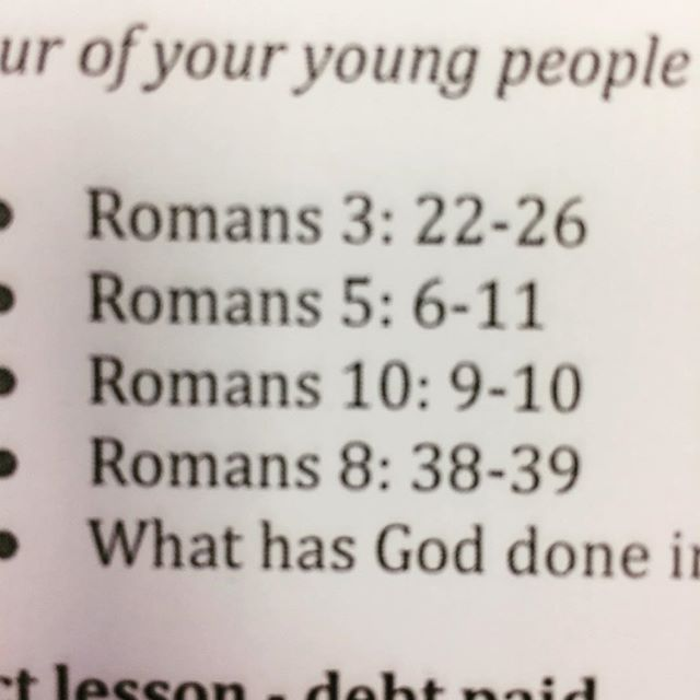 Roman road verses from tonight. Clear plan of salvation. Read and share with friends.