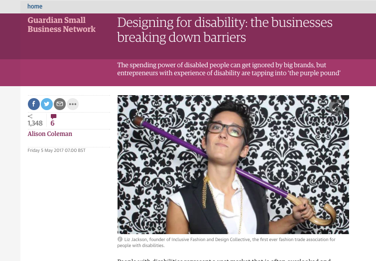 Marianne and Liz Jackson of The Inclusive Design and Fashion Collection talk to The Guardian about Designing for Disability, and the small businesses who are working to represent the needs and interests of people with disabilities.