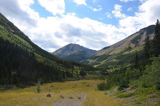 Drywood Creek - Paysage typique de la région des parcs Castle