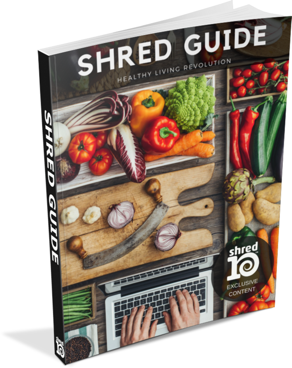 The Shred Guide eBook is available to all Shred10™ participants! It includes recipes, tips, and articles by healthcare professionals about the Shred10™ program.