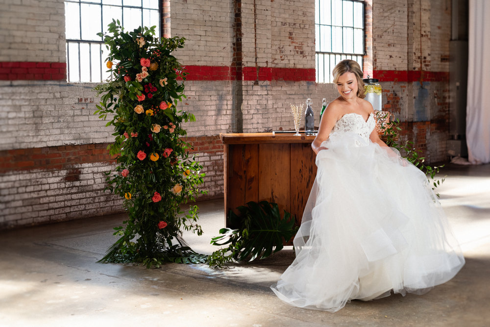 Styled Wedding Shoot at Studio 215 a local Fayetteville, NC wedding venue.