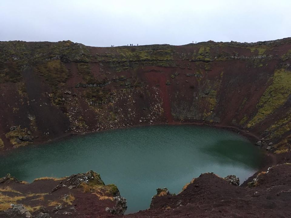 Kerið, the volcanic crater lake