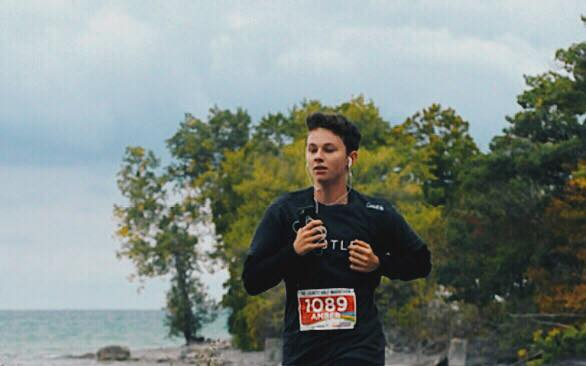 Give or take 7-10km into the race - In beautiful Prince Edward County