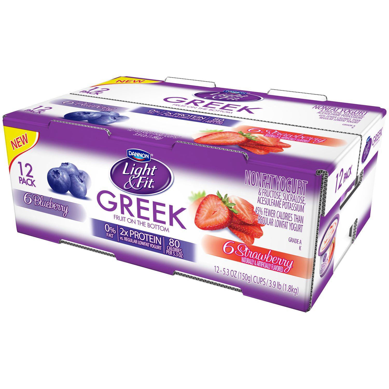 Dannon Light U0026 Fit Nonfat Greek Yogurt 15 Cups, 5.3oz