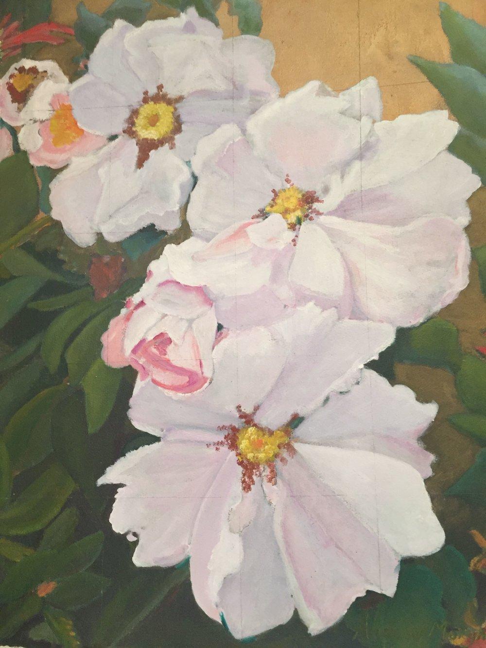 """Hybrid Rose """"Daisy Hill""""  1998"""