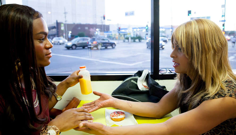 Mya Taylor and Kitana Kiki Rodriguez in  Tangerine  © 2015 Magnolia Pictures