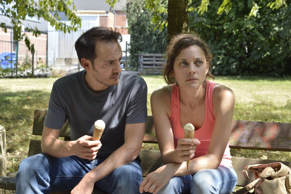 Fabrizio Rongione and Marion Cotillard in  Deux jours, une nuit  © 2014 IFC Films