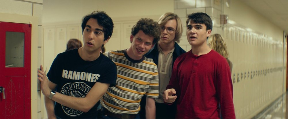 Alex Wolff, Harrison Holzer, Ross Lynch, and Tommy Nelson in  My Friend Dahmer  © 2017 FilmRise