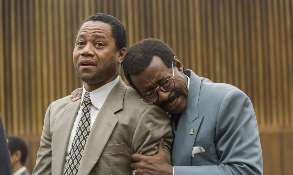 Cuba Gooding Jr. and Courtney B. Vance in  The People v. O.J. Simpson: American Crime Story  © 20th Television