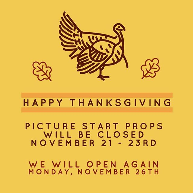 Just a reminder we will be closed for the rest of the week. You can still find info and photos online on our website. Have a happy and safe Thanksgiving 🦃🍁🍂