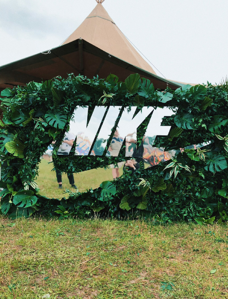 WE LOVE GREEN x NIKE — MUR VEGETAL