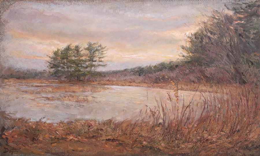 Assabet Wildlife Refuge, 2017, 12x20 inches, oil on linen.