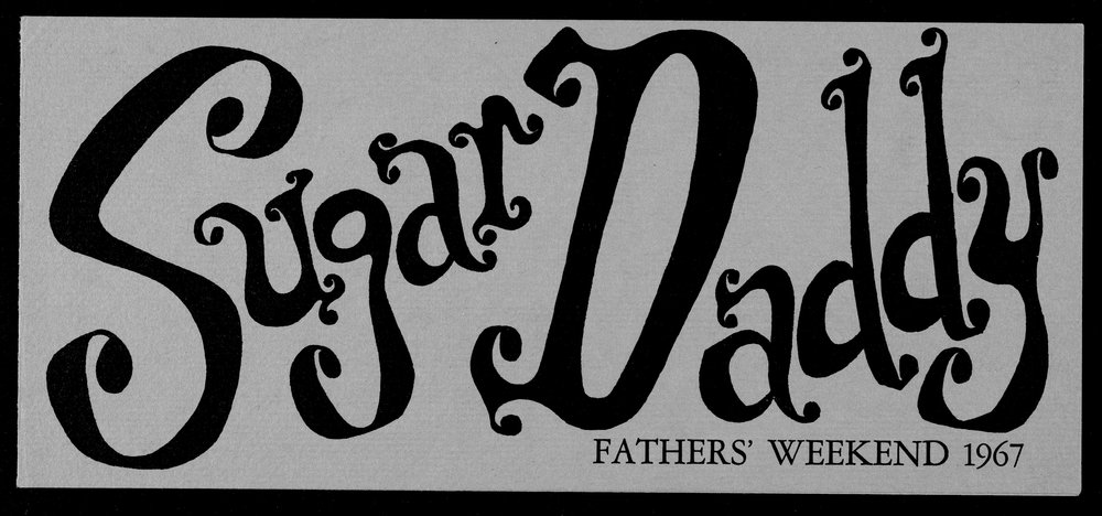"""Sugar Daddy"" was the theme of the 1967 Fathers' Weekend."