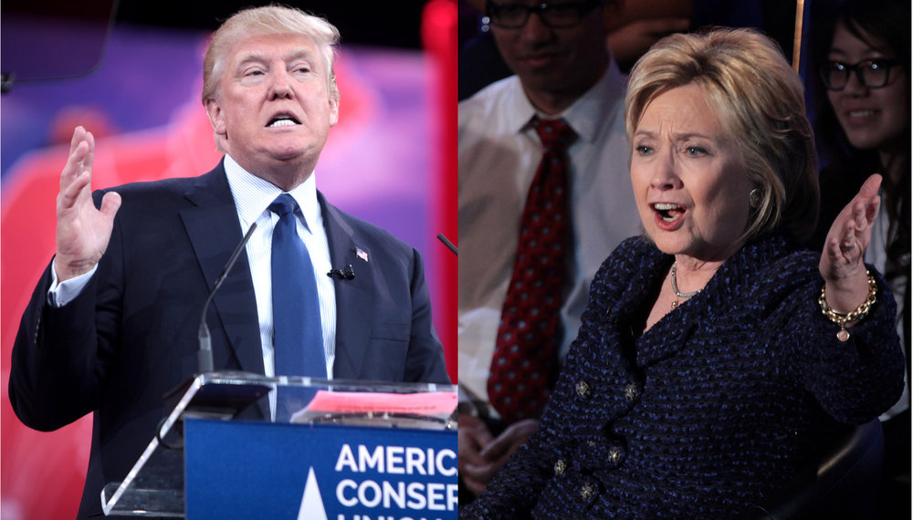 Photos courtesy of Wikimedia Commons Presidential candidates Donald Trump and Hillary Clinton discussed abortion rights at the most recent debate.