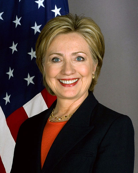 Photo courtesy of Wikimedia Commons Candidate Hillary Clinton has been projected to be the first woman president of the United States of America.