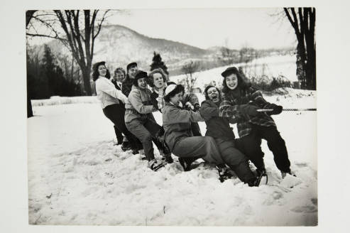 students tugging rope at winter carnival 1945.jpg