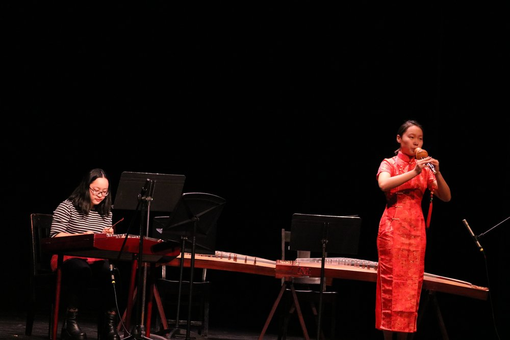 Photos by Dana Pan '20  On Dec. 1, Student performers from both UMass and Mount Holyoke came together to share music and dance selections from Chinese culture. Students sang, danced, recited poerty and played musical instruments in the show.