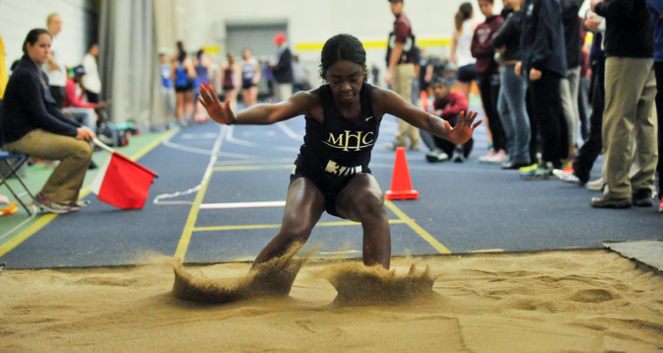 Photo courtesy of the Mount Holyoke College athletics department Donari Yahzid '19 jumped a distance of 5.15 meters, scoring third place in the long jump at Smith College on Saturday.