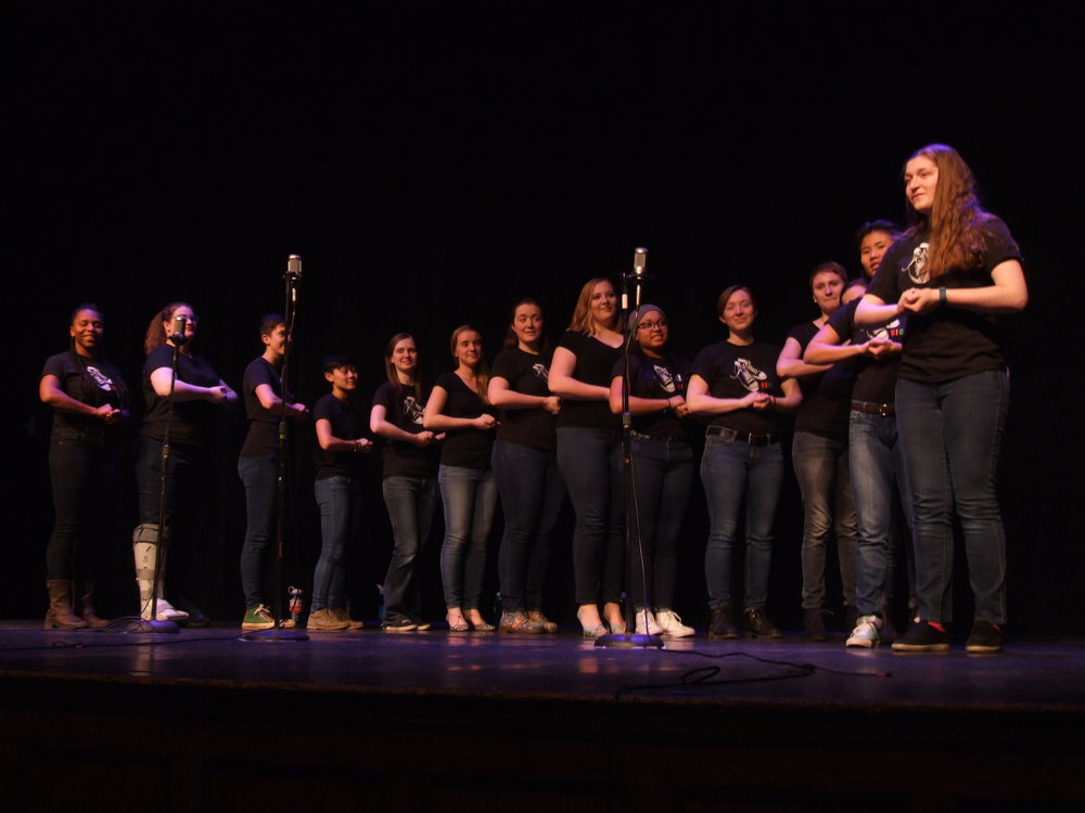 Photos by Ruth Wondimu '19  Multiple a capella groups, including the Diversions, Milk & Cookies, Nice Shoes,  Victory Eights and Raag, partnered with C.A.U.S.E. for this fundraiser.