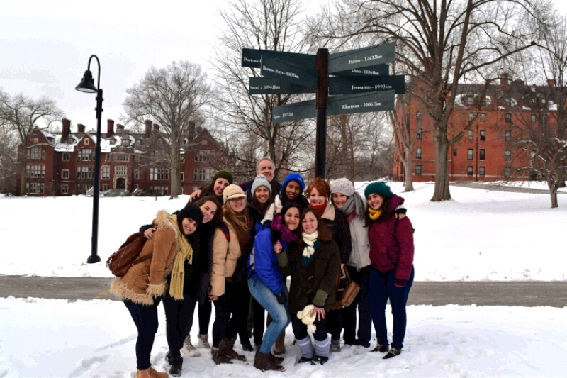 Photo courtesy of Advika Mukherjee '18 11 students arrived at Mount Holyoke in early January as Friends of Fulbright scholars.