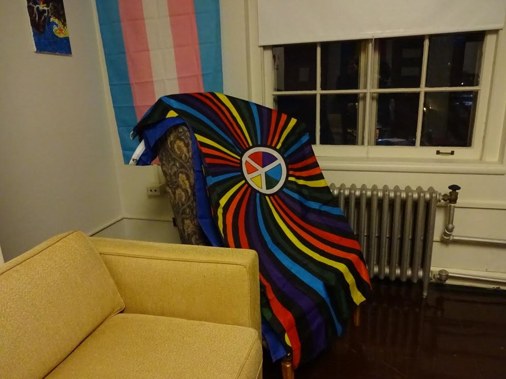 Photo by Shiloh Frederick '17 The LGBTQIA Community's lounge on the Mary Woolley Floor in Abbey.