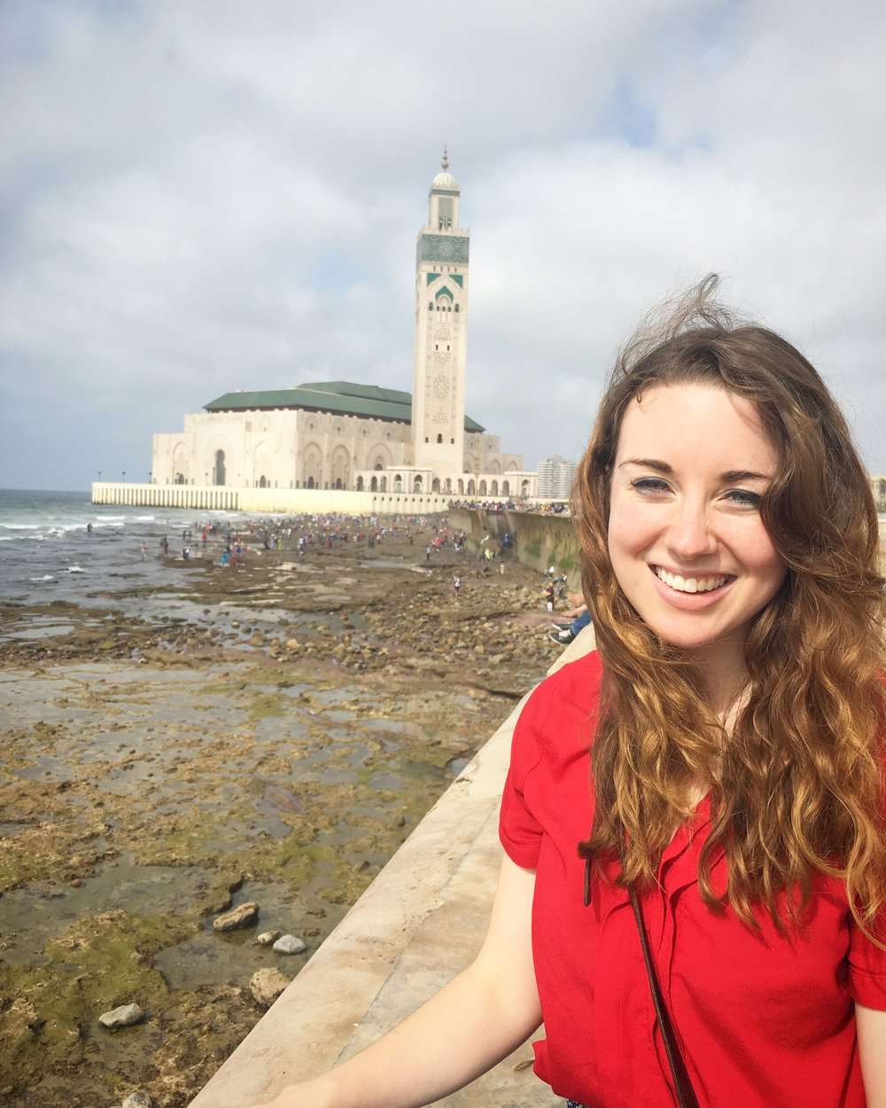 Photo courtesy of Emma Murphy '15 Murphy '15 stands in front of the Hassan II Mosque in Casablanca.