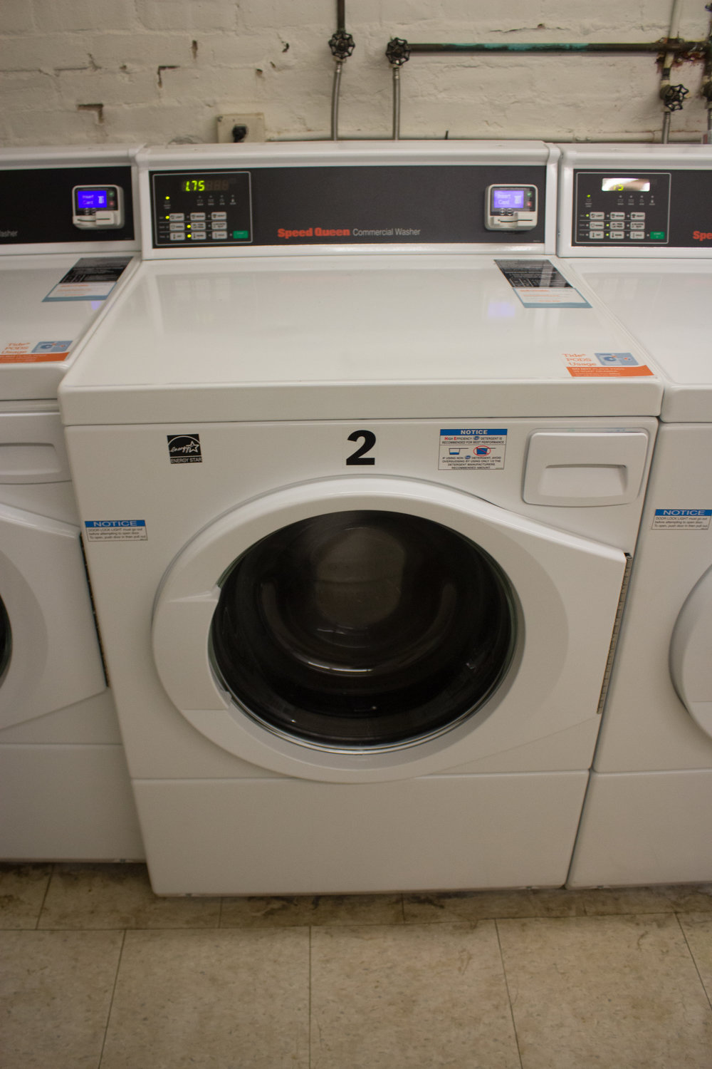 Photo courtesy of Izzy Olgaard '18 New laundry washers that have been installed. The price of doing laundry in the new washers with multiple washing options is $1.75.