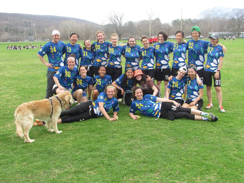 Photo courtesy of Elizabeth Nelson '18   Daisy Chains after a Spring 2016 game.