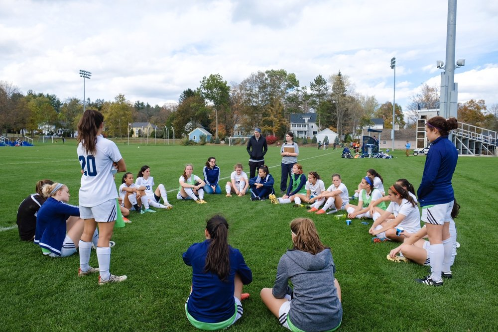The Mount Holyoke varsity soccer team took on the Babson Beavers at their annual seniors game last Saturday.
