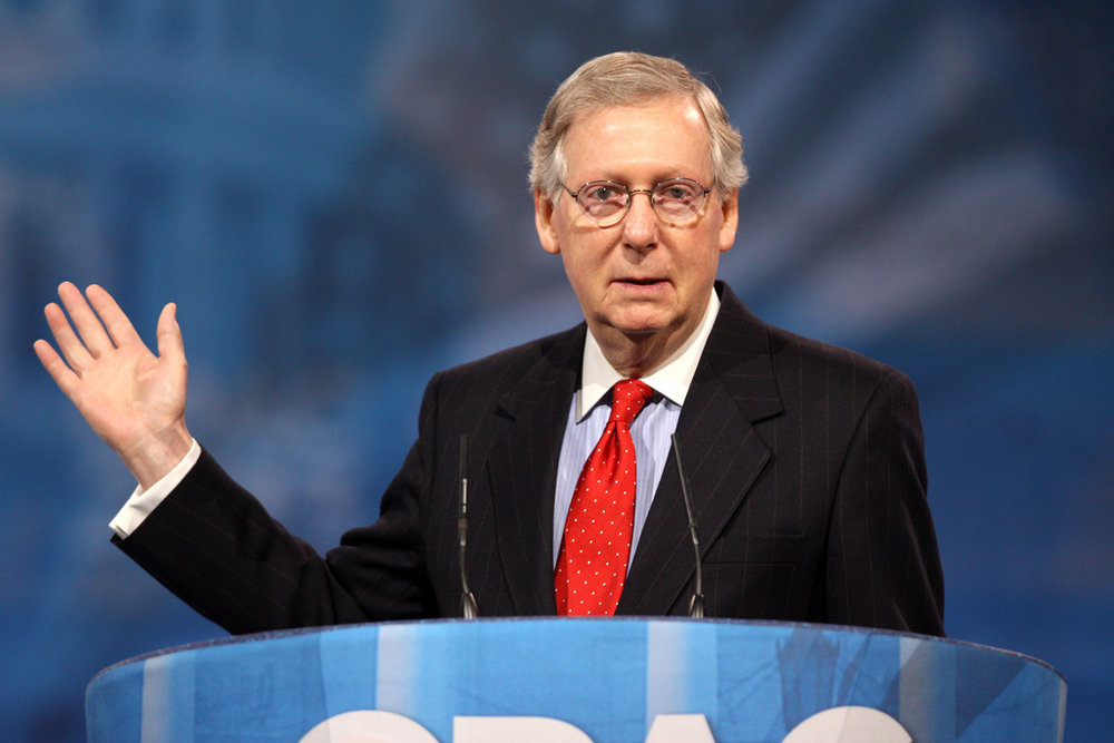 Photo courtesy of Flickr  Senator Mitch McConnell of Kentucky speaking at the 2013 Conservative Political Action Conference in National Harbor, Maryland