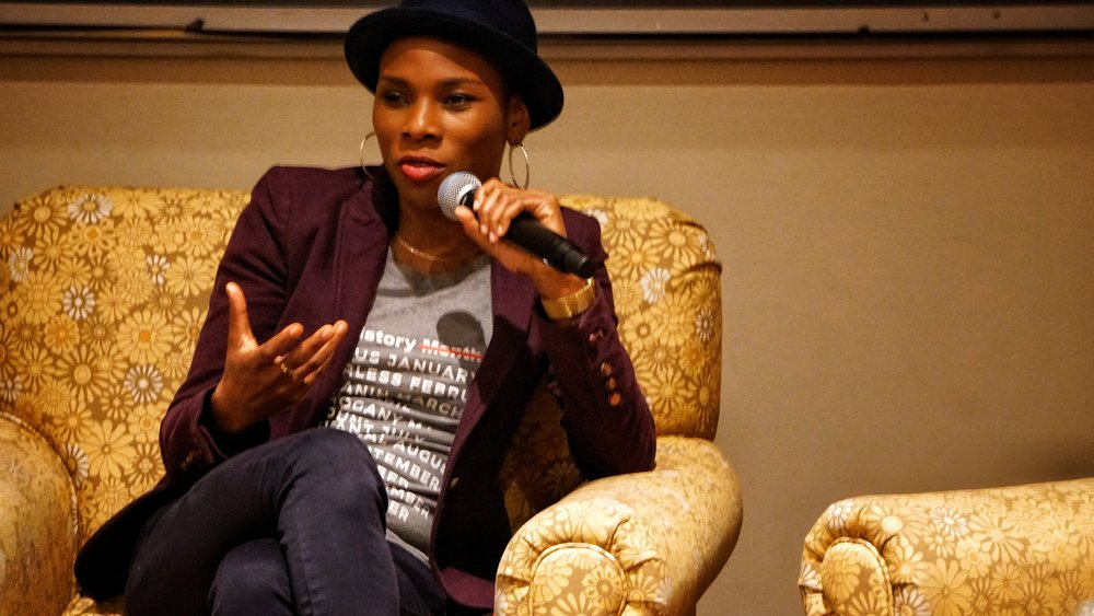 Photo courtesy Tiang'an Lu '21  Author and pop culture blogger Luvvie Ajayi spoke at Mount Holyoke College last Thursday about topics ranging from her Nigerian heritage to the importance of truth.