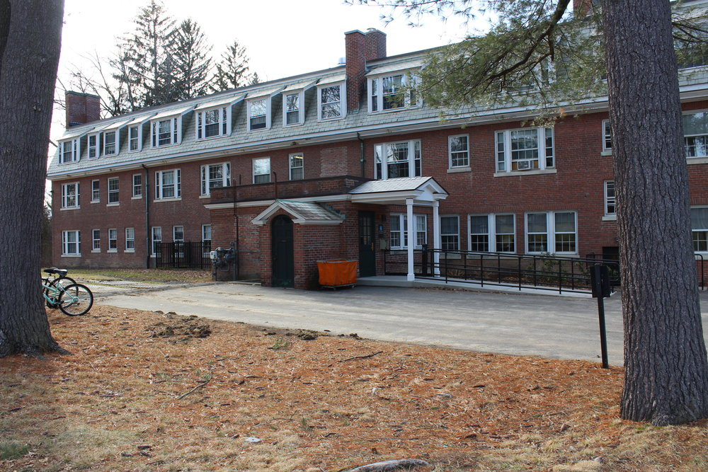 Photo courtesy of Izzie Burgess '19  Dickinson Hall has been used as Frances Perkins housing since 2014.