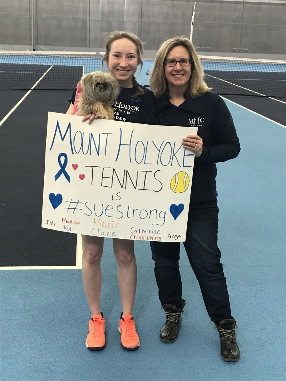 Photo courtesy of Athletics Department   Tennis player Katie Schumacher '20 honors her mother.
