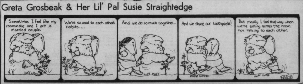 A May 6, 1976 comic summarizes the relationship between long-time roommates.