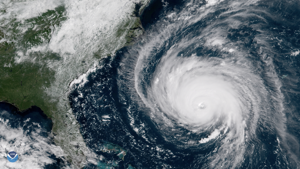 Image courtesy of Flickr   Florence could be seen from the NOAA satellite.