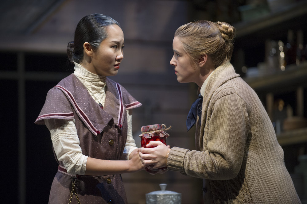 "Photo courtesy of Jon Crispin   Nikki Wei '20 and Caledonia Wilson '19 in ""Trifles."""
